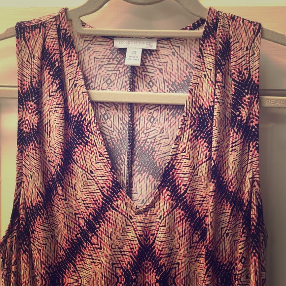 London Times Dresses & Skirts - Multi color long dress with hem at waist